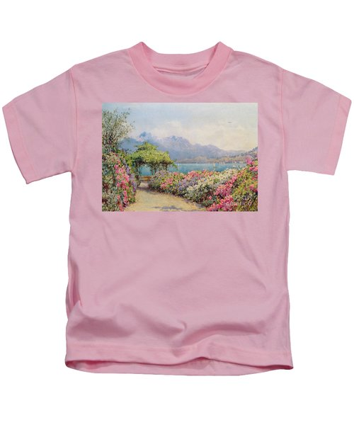 Lake Como From The Villa Carlotta Kids T-Shirt