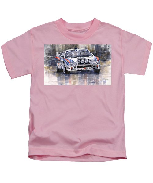 Lancia 037 Martini Rally 1983 Kids T-Shirt