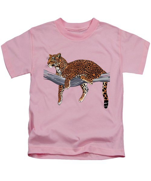 Leopard Kids T-Shirt by Alexandra Panaiotidi