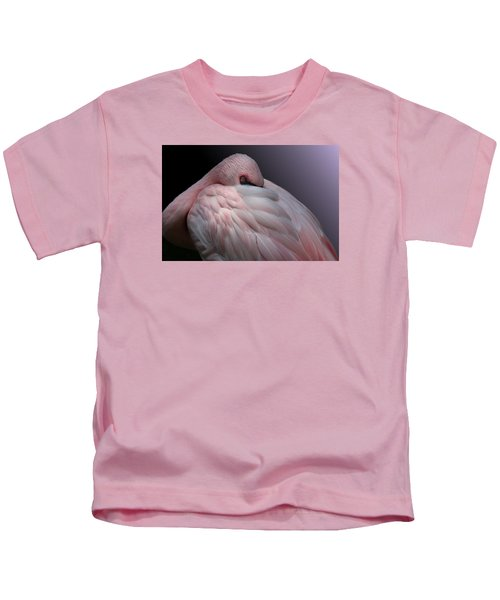 Lesser Flamingo Resting Kids T-Shirt