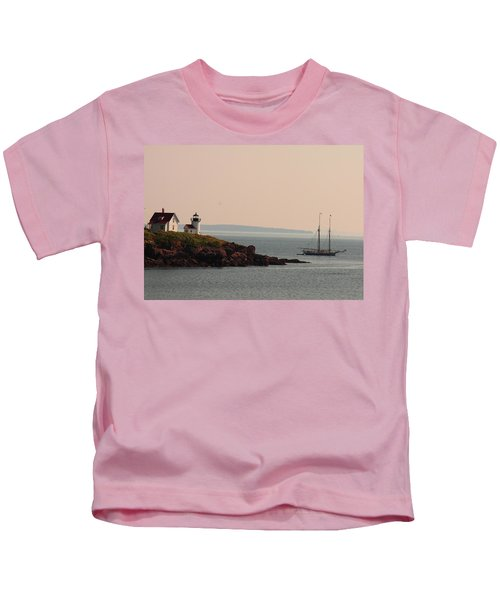 Lewis R French At The Curtis Island Lighthouse Kids T-Shirt