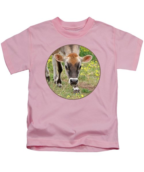 Look Into My Eyes - Jersey Cow - Square Kids T-Shirt