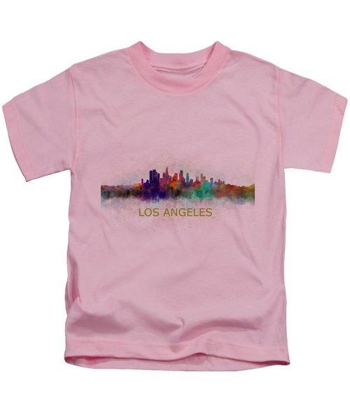 Los Angeles City Skyline Hq V4 Kids T-Shirt
