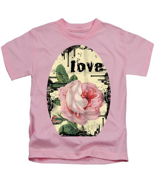 Love Grunge Rose Kids T-Shirt