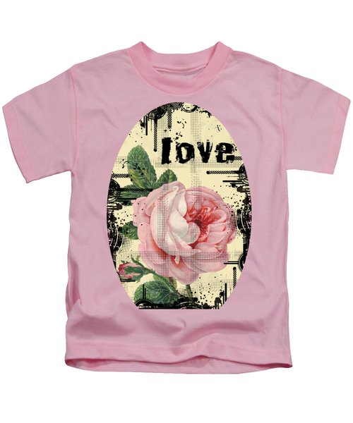 Love Grunge Rose Kids T-Shirt