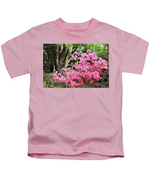 Lovely Pink Azalea Kids T-Shirt