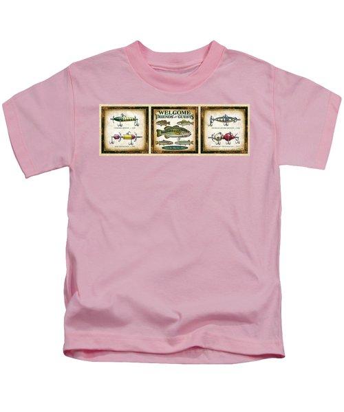 Lure Three Piece Panels Kids T-Shirt