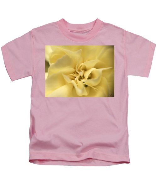 Kids T-Shirt featuring the photograph Macro Yellow Rose by Marian Palucci-Lonzetta