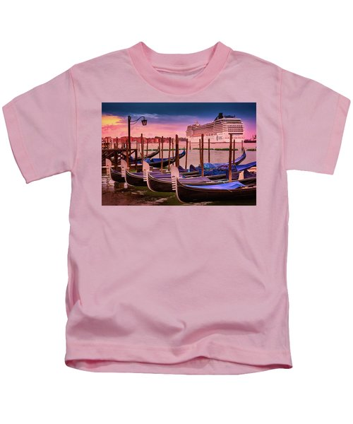 Magical Sunset In Venice Kids T-Shirt