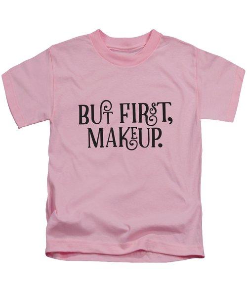 Makeup  Kids T-Shirt by Elizabeth Taylor