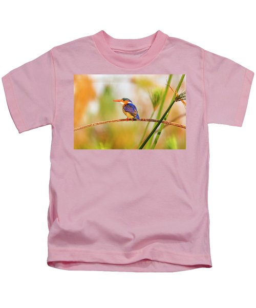 Malachite Kingfisher Hunting Kids T-Shirt