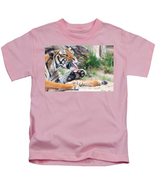Malayan Tiger Grooming Kids T-Shirt