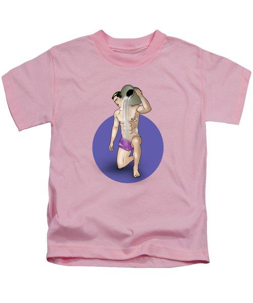 Male Nude Art Comics  Aquarius Kids T-Shirt