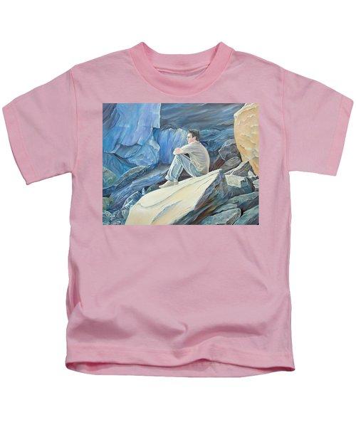 Man On The Rocks Kids T-Shirt