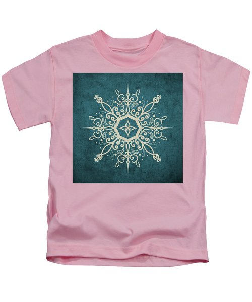 Mandala Teal And Tan Kids T-Shirt