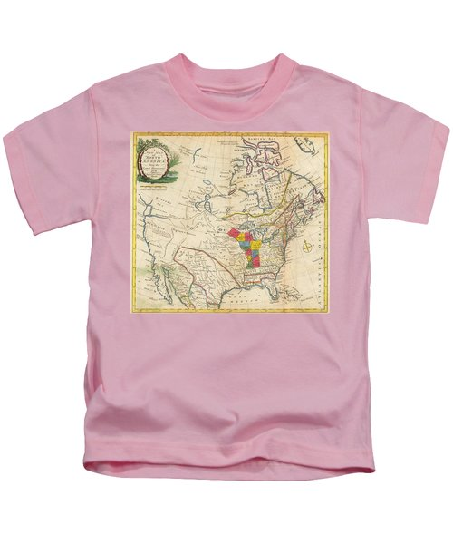 Map Of Colonial North America  Kids T-Shirt