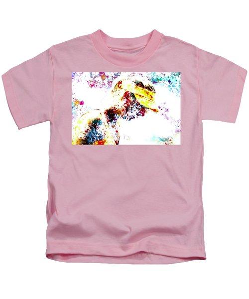 Maria Sharapova Paint Splatter 4p                 Kids T-Shirt by Brian Reaves