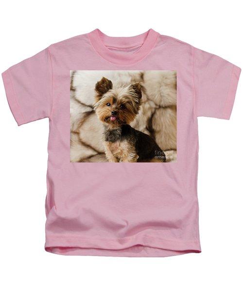 Melanie On Fur Kids T-Shirt