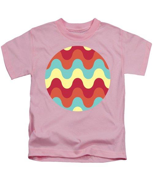 Melting Colors Pattern Kids T-Shirt