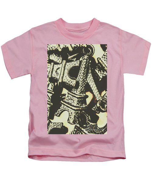 Mementos Of Paris France Kids T-Shirt