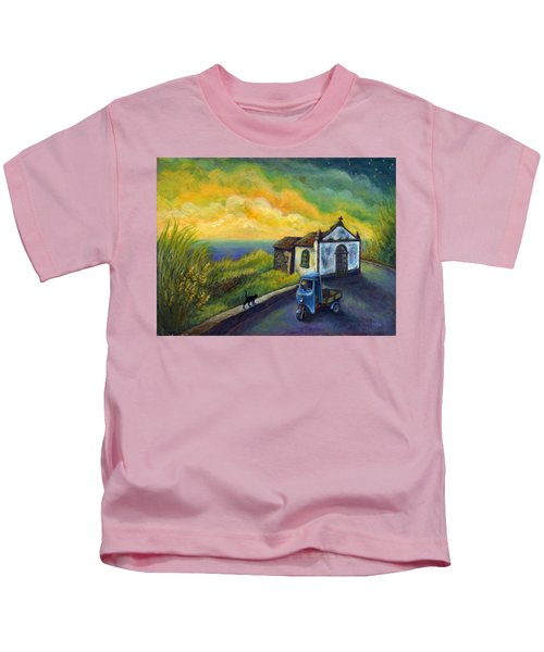 Memories Neath A Yellow Sky Kids T-Shirt