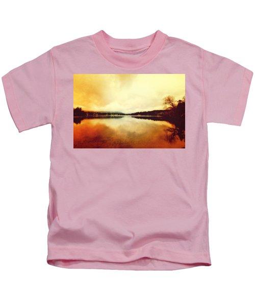 Mirror Lake At Sunset Kids T-Shirt