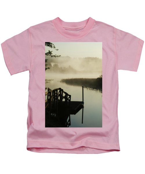 Misty Oregon Morning Kids T-Shirt