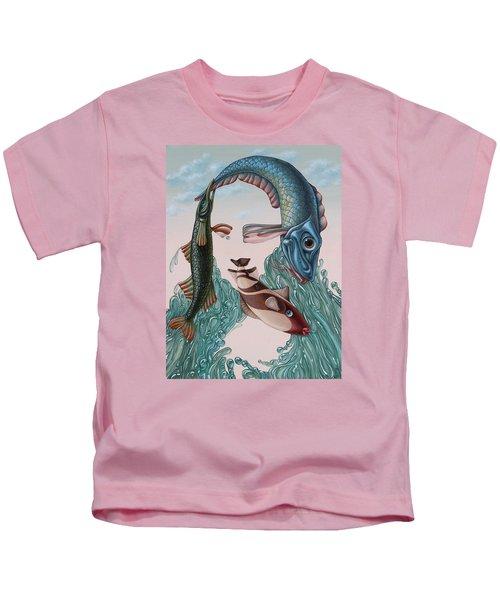 Mona Lisa. Water Kids T-Shirt