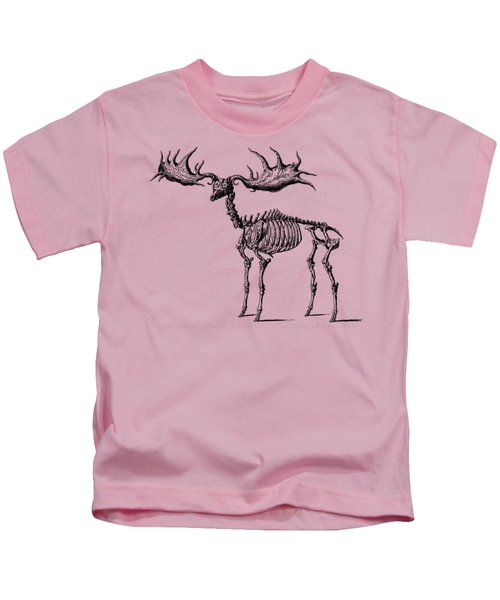 Moose Skeleton T Shirt Design Kids T-Shirt
