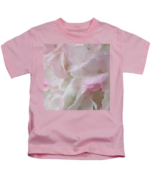 Morning Hydrangeas Macro Square Kids T-Shirt