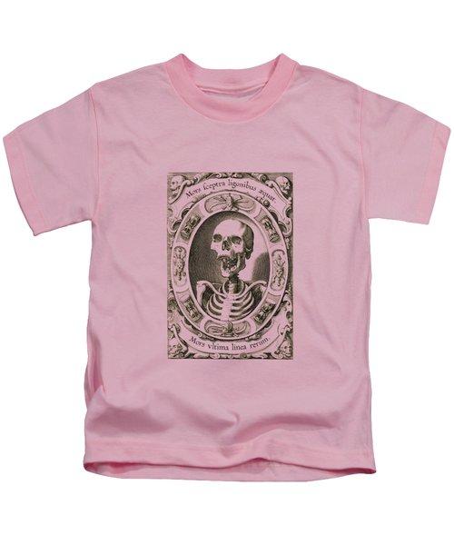 Mors Ultima Linea Rerum - Egbert Van Panderen Engraving  Kids T-Shirt