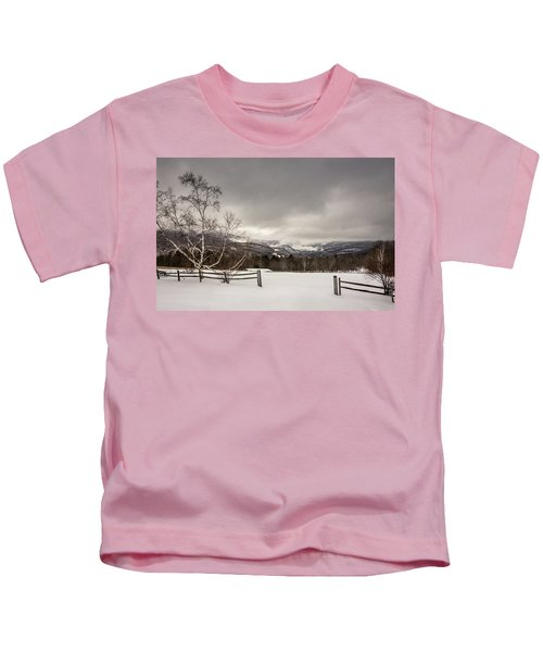 Mountains In Winter Kids T-Shirt