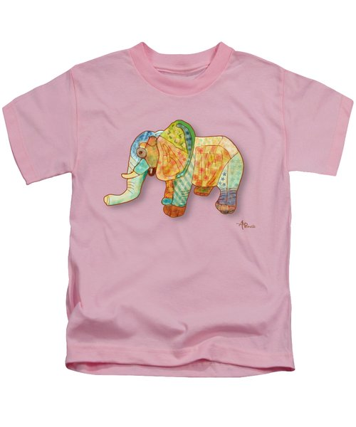 Multicolor Elephant Kids T-Shirt by Angeles M Pomata