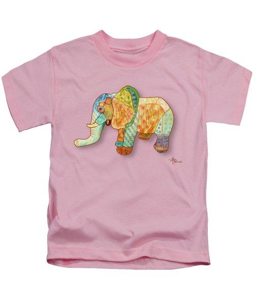 Multicolor Elephant Kids T-Shirt