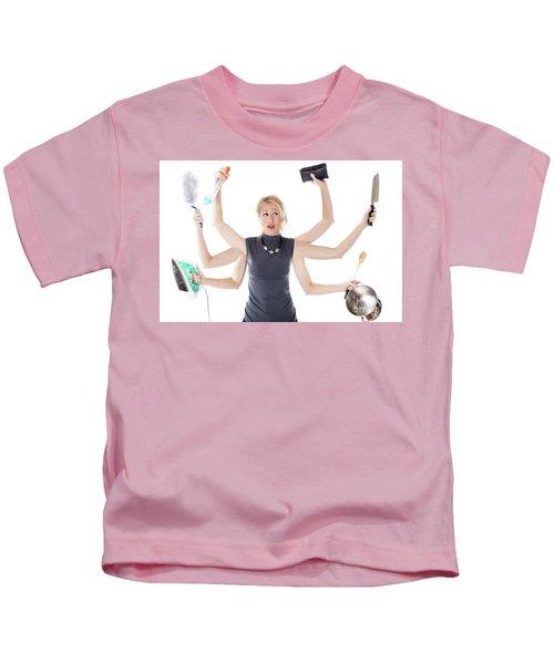 Multitasking Housewife Kids T-Shirt