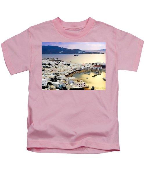 Mykonos Greece Kids T-Shirt