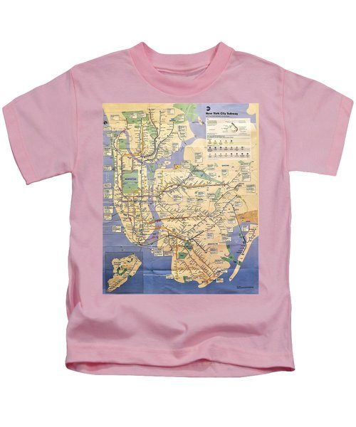 N Y C Subway Map Kids T-Shirt