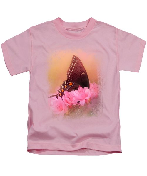 Napping In The Azaleas Kids T-Shirt
