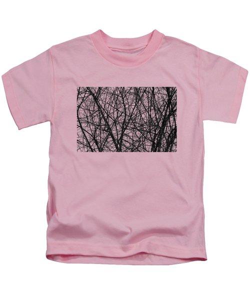 Natural Trees Map Kids T-Shirt by Konstantin Sevostyanov
