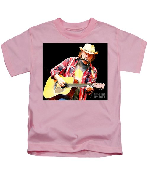 Neil Young Kids T-Shirt by John Malone