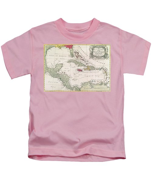New And Accurate Map Of The West Indies Kids T-Shirt