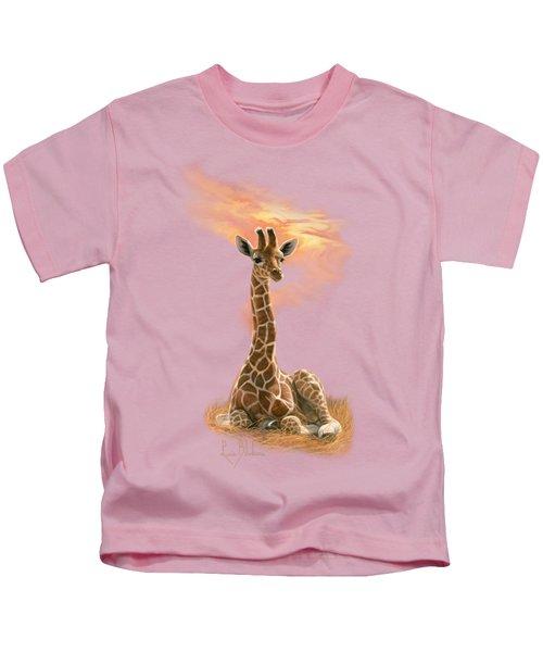 Newborn Giraffe Kids T-Shirt
