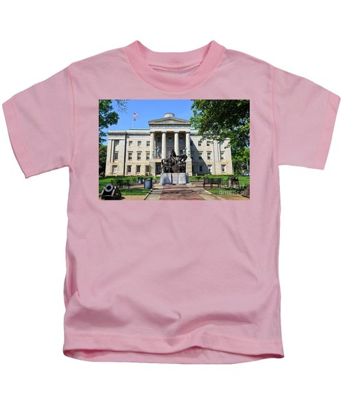 North Carolina State Capitol Building With Statue Kids T-Shirt