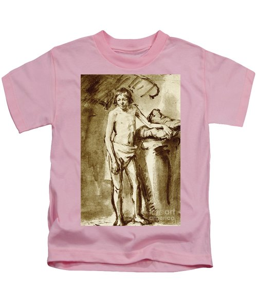 Nude Drawing For A Youth Kids T-Shirt