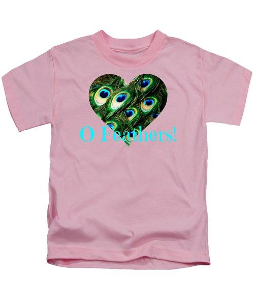 O Feathers Kids T-Shirt by Anita Faye