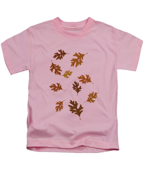 Oak Leaves Art Kids T-Shirt by Christina Rollo