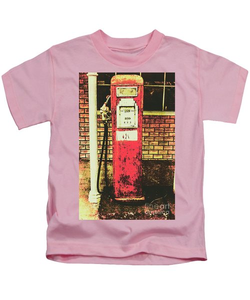 Old Roadhouse Gas Station Kids T-Shirt