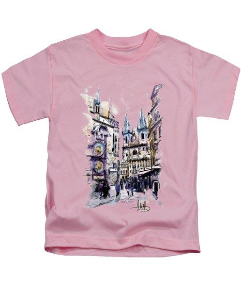 Old Town Square In Prague Kids T-Shirt