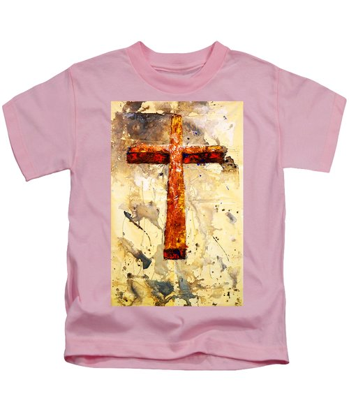 On That Old Rugged Cross Kids T-Shirt
