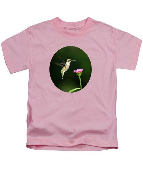 One Hummingbird Kids T-Shirt by Christina Rollo